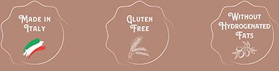 gluten free senza grassi idrogentati made in italy